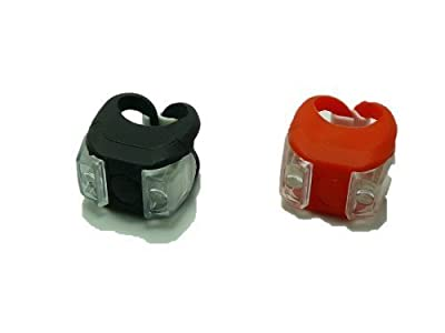 1 Pair LED Bicycle Light VERY BRIGHT BIKE LED LIGHT mount at fork handlebar seat post Red and White FROG LIGHT - inexpensive UK light shop.
