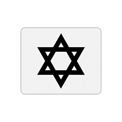 Mauspad, rechteckig bedruckt Kreuz jüdische (Kreuz Jüdische)