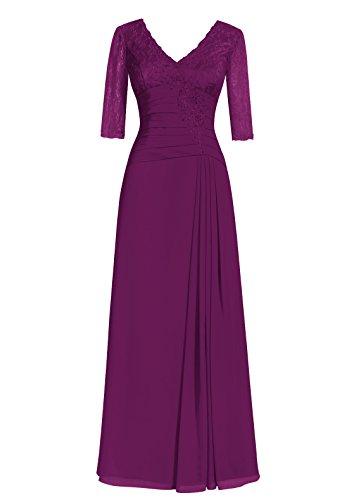Dresstells, A-ligne robe longue de mère de mariée, robe de soirée formelle, robe de demoiselle d'honneur Raisin