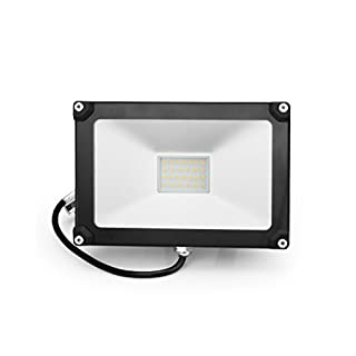 Anten 24*16.5*2.95CM 30W Floodlight 2800-3200K Warm White IP65 Suitable for Garage Warehouse Production Workshop Exhibition Room Gas Station Supermarket