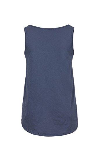 bloom Top mit Rundhalsausschnitt, A-Form, Brusttasche Blau