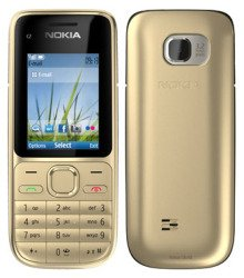 "Nokia C2-01 2"" 89g Silver - Mobile Phones (Bar, Single SIM, 5.08 cm (2""), 3.2 MP, 1040 mAh, Silver)"