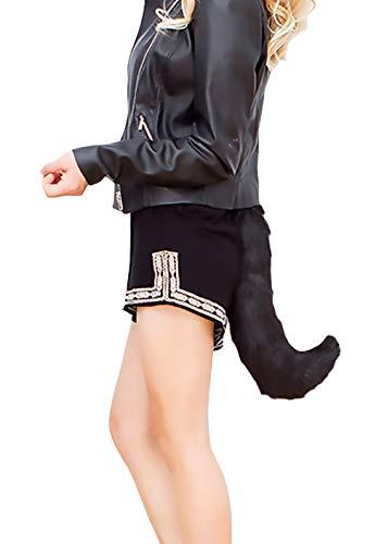 Damen Halloween Kostüm Fuchs Schwanz Einstellbar Unique Synthetisch Mädchen Kleidung Pelz Schweifanhänger Cosplay ()