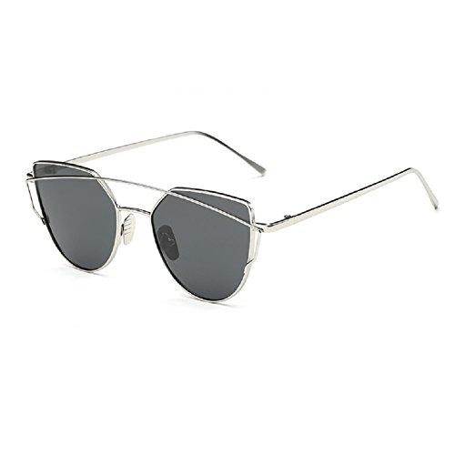 O-C Damen Sonnenbrille Grau silver frame, grey lens