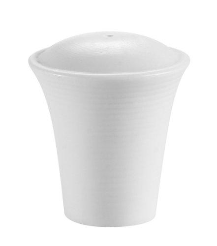 CAC China Pfeffer- und Salzstreuer, Porzellan, Weiß Transitions 2-Inch(Salt Shaker) Super white; bright white - Fine China Shaker