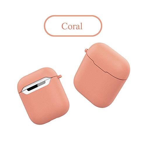 Duftende kabellose Bluetooth-Kopfhörer-Hülle für airphonepods Silikonhülle Vollschutzhülle aus weichem Gummi für airphonepods Soft Case Cover-in-Kopfhörer-Zubehör von Consumer Electronics, Coral -