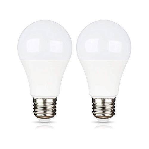 Lampadina E27 LED 12V 24V per Camping Car, Luce Fredda 6000K, 9W Equivalente Alogena 75W, Lampada 12V LED per Luce Solari da Giardino Esterni/Luce Gradinate/Luci di Coperta in Nave, set di 2