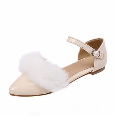 Confortevole ed elegante piatto scarpe donna Appartamenti primavera cadono Comfort similpelle Office & Carriera Abbigliamento Sportivo tacco piatto fibbia Nero Rosso Bianco Grigio gray