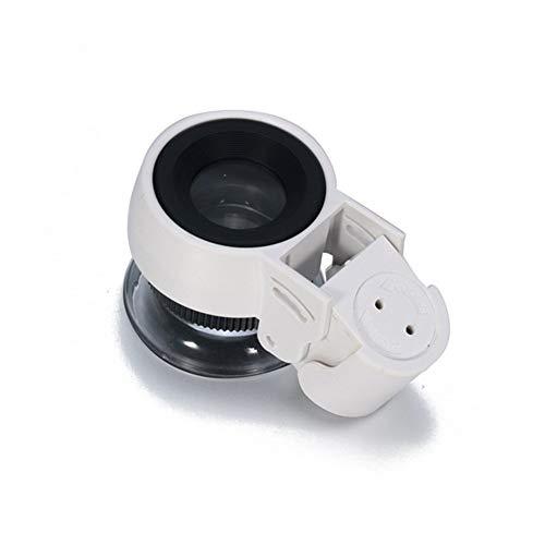 45-fache Lupe mit 2 LED- und UV-Lampen Banknotenprüfgerät Desktop-Handheld-Beleuchtungslesevergrößerungsglas für Schmuckidentifikation Uhren DIY Handwerk schnitzen Reparatur -