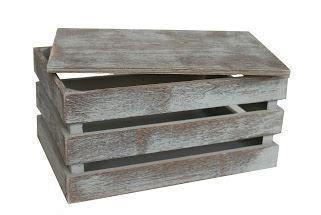 Pequeño de rejilla de la vendimia caja de madera