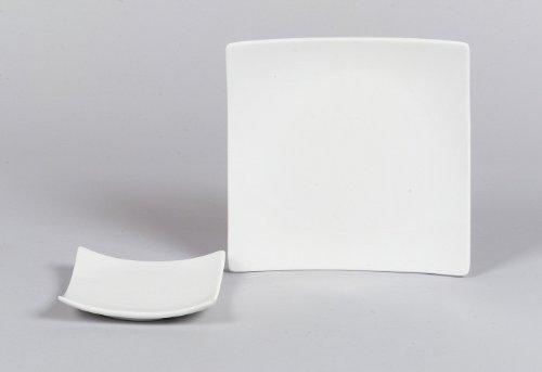 Sandra Rich Kerzenteller Square Porzellan 10 x 10 cm