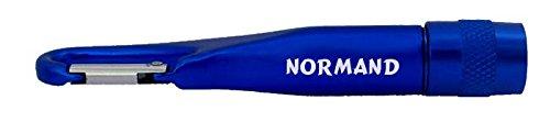 Personalisierte Taschenlampe mit Karabiner mit Aufschrift Normand - Normande Beleuchtung