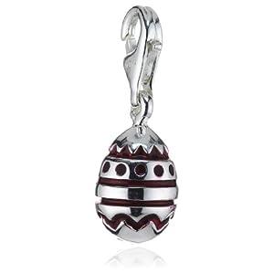Heartbreaker Damen-Charm 925 Sterling Silber rotes Ei HB 429