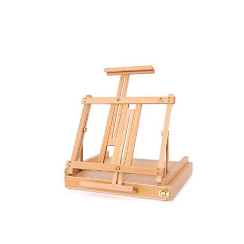 -Klapp-Holzstaffel für Studenten, kann Aquarellstifte aufbewahren. Tragbare Staffelei ()