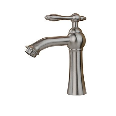 Contemporary Country Art Deco/Retro Standard Spout Vessel Rain Shower Widespread with Ceramic Valve Single Handle One Hole for