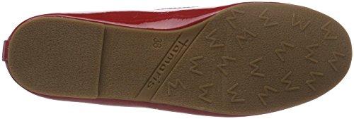 Tamaris Damen 22123 Ballerinas Rot (Chili Patent)