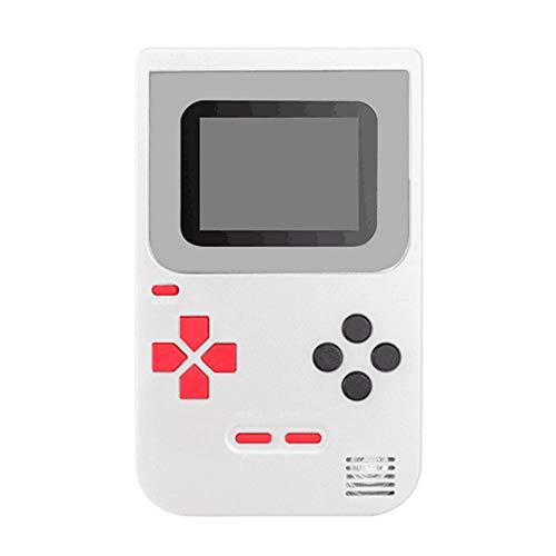 tianranrt Handheld Consola de juegos integrado 268clásico Juegos Cumpleaños Regalos para niños, ABS, Blanco