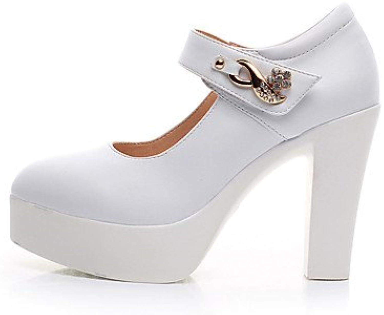 RTRY Tacones Mujer Bomba Básica Zapatos Formales Polipiel Primavera Otoño Casual Boda Oficina &Amp; Carrera De...