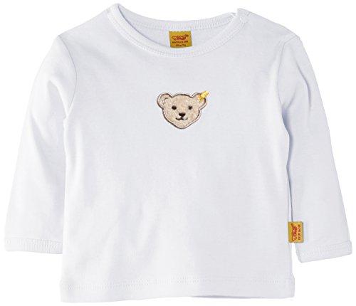 Steiff Baby - Jungen, Bluse, 0006671 T-Shirt 1/1 Sleeves, GR. Neugeboren (Herstellergröße:50), Weiß (bright White)