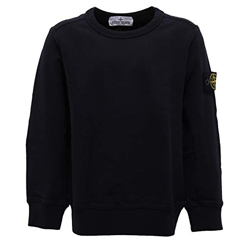f0da9af0 Stone Island 4502Z Felpa Bimbo Boy Junior Dark Blue Cotton Sweatshirt [6  Years]