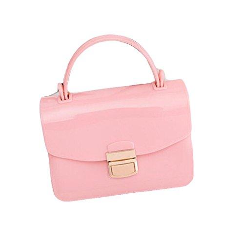 Frauenbeutel-Süßigkeitbeutel Kleiner Quadratischer Beutel-Schulterbeutel Kurierbeutel Mini Einfache Wilde Freizeit Pink