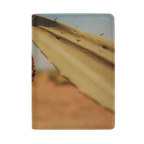 Dreamcatcher In Windy Day Blocking Print Estuche de la Funda para el Pasaporte de Viaje Equipaje Pasaporte Billetero Monedero Hecho con Cuero para Hombres Mujeres Niños Familia