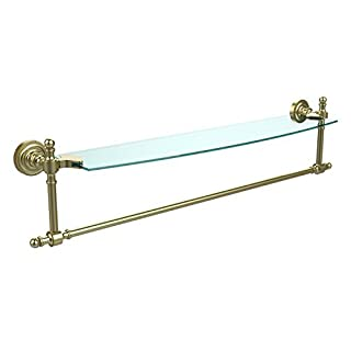 Allied Brass RD-33TB/24-SBR Retro Dot Collection 24-Inch Single Shelf with Towel Bar, Satin Brass by Allied Precision Industries