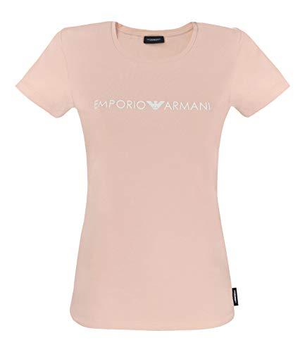 Emporio Armani Damen T-Shirt, Rundhals, Loungewear, Shirt, Kurzarm, Logo, XS-L: Farbe: Nude | Größe: L (Gr. Large)