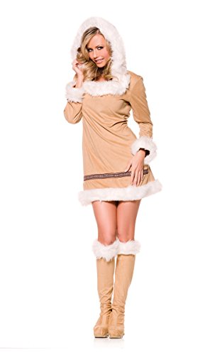 oded Faux Fur Eskimo Girl Mini Dress Costume Adult X-Large (Girl Kiss Kostüme)