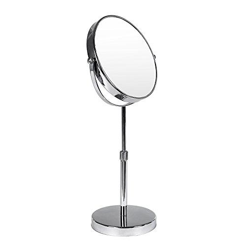 SONGMICS höhenverstellbar Kosmetikspiegel Vergrößerungsspiegel Rasierspiegel Standspiegel Tischspiegel 10 fach+zweiseitig 360°drehbar BBM008