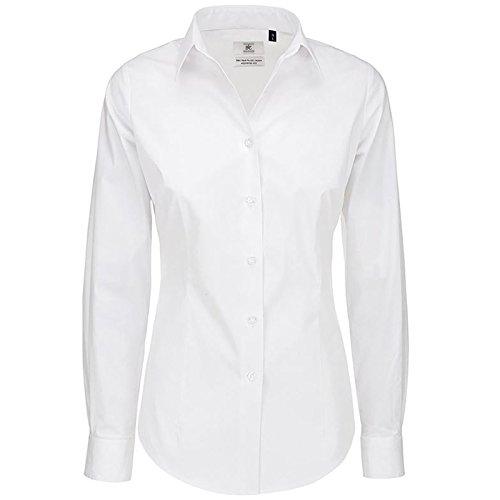 B&C Collection Damen Modern Bluse Weiß