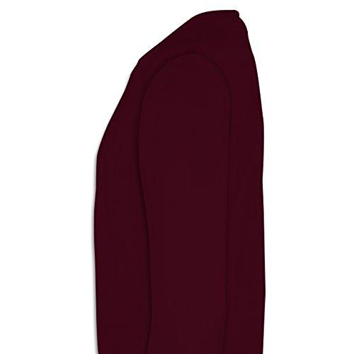 Anfangsbuchstaben - H Collegestyle - Herren Premium Pullover Burgundrot
