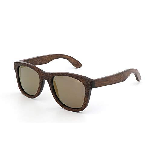 Unisex polarisierte Holz Bambus Sonnenbrillen Vintage Brillen UV400 Holz Brille - Tempel geschnitzt Sammlung,D