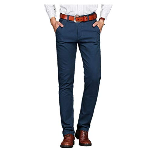 Xiangdanful Herren Anzughose,Stoffhose Business-Hose,Straight Leg,Stretch,Slim Fit,Solid,Schmale,Herren Smokinghosen Freizeithose Blazer Hose Chino Hose Männer Work Pants (29, Dunkelblau)
