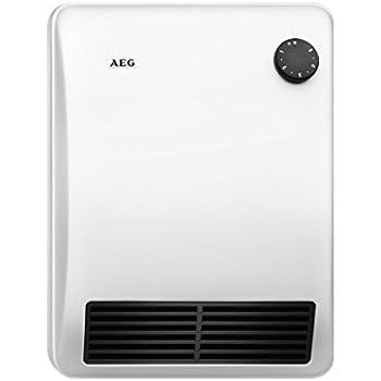 AEG Ventilatorheizung VH 206 , Besonders geräuscharme Heizung für das Bad, Vollmetall, Sehr flach, 2000 W, 184395