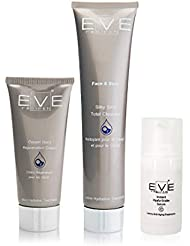 EVE REBIRTH Kit : Hyalu-Snake Sérum, 15 ml + Crème pour Mains, 100 ml + Soin Hydratant, 50 ml