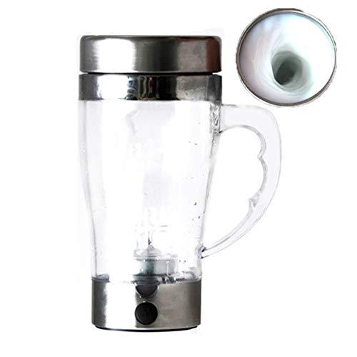 SQXM Vakuumisolierte Cup, Faul Elektro Rühren Cup, 400 ml 2 AAA-Batterien, automatische Kaffeetasse, tragbare Home/Office/Outing Reisen Wasser Cup