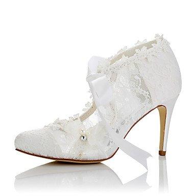 RTRY Donna Comfort Tacchi Raso Pizzo Estate Autunno Party Di Nozze &Amp; Abito Da Sera Comfort Applique Stiletto Heel White 3A-3 3/4In Bianco Us5 / Eu35 / Uk3 / Cn34 US5.5 / EU36 / UK3.5 / CN35