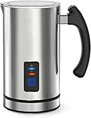Electric Milk Frother, Stainless Steel, Automatic Milk Steamer for Coffee, Cappuccino, Hot Chocolates, Automat
