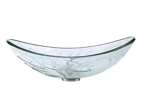 Maomao Lavandino del Bagno Lavabo da appoggio in Vetro Trasparente temperato Vaso Lavello Lavello Lavello Lavello Artistico,C