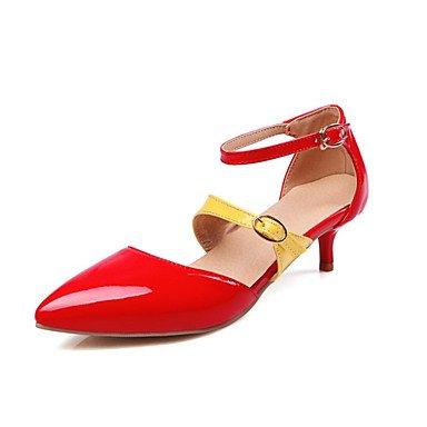 Zormey Frauen Heels Frühling Sommer Club Schuhe Komfort Neuheit Lackleder Angepasste Materialswedding Büro & Amp; Karriere Party & Amp; Abendkleid US5.5 / EU36 / UK3.5 / CN35