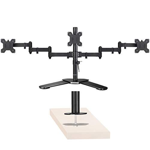 Supporto da braccio per monitor nero nero 3 monitor (40cm pole)