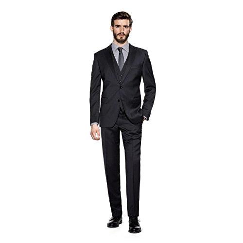 Benvenuto Black - Modern Fit - Herren Baukasten Anzug aus Super 110'S Schurwolle in verschiedenen Farben (20761) Anthrazit (1283)
