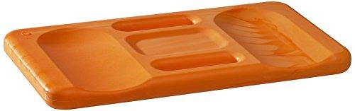 Kronen Hansa Kniekissen Ergo-Soft Mat, orange mit ergonomischer Formgebung, praktischer Tragegriff, 24 x 44 cm groß, 30 mm stark, 367190 (Ergo-bad)