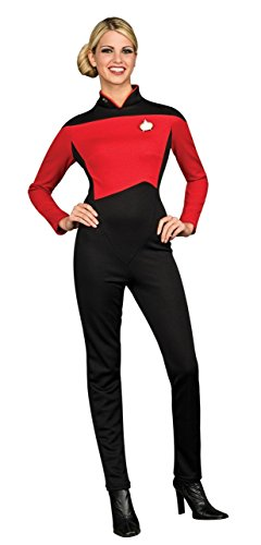 Deluxe Commander Uniform 'Star Trek - The Next Generation' für Damen Gr. XS-M, (Spock Kostüme Star Trek Film Für Deluxe Erwachsene)