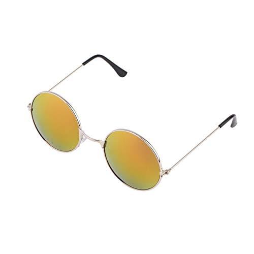 Monllack UV400 Vintage Frauen Männer Qualität Bunte Spiegel Objektiv Runde Brille Durable Aluminium Frame UV400 Schutz Sonnenbrille