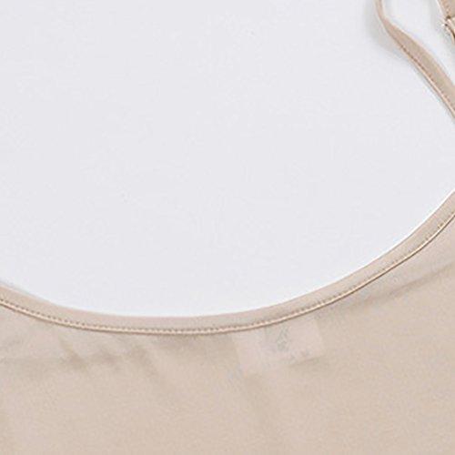 Heheja Femme Bretelle Jupons Mini Robe Fond De robe Classique Peau