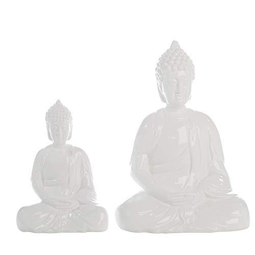 Casablanca - Figur Buddha Spirit Keramik weiß glasiert - Europäische Herstellung - -