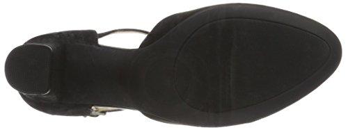 Caprice Damen 24400 T-Spange Schwarz (Black Suede)
