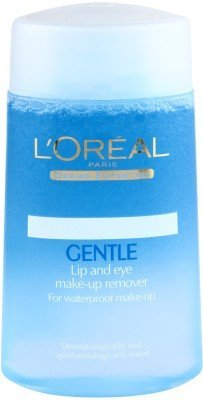 Loreal Paris Dermo-Expertise Gentle Lip And Eye Make-Up Remover For Waterproof Make-up 125 ml (Made In Indonesia)With Free Ayur Sunscreen 50 ml